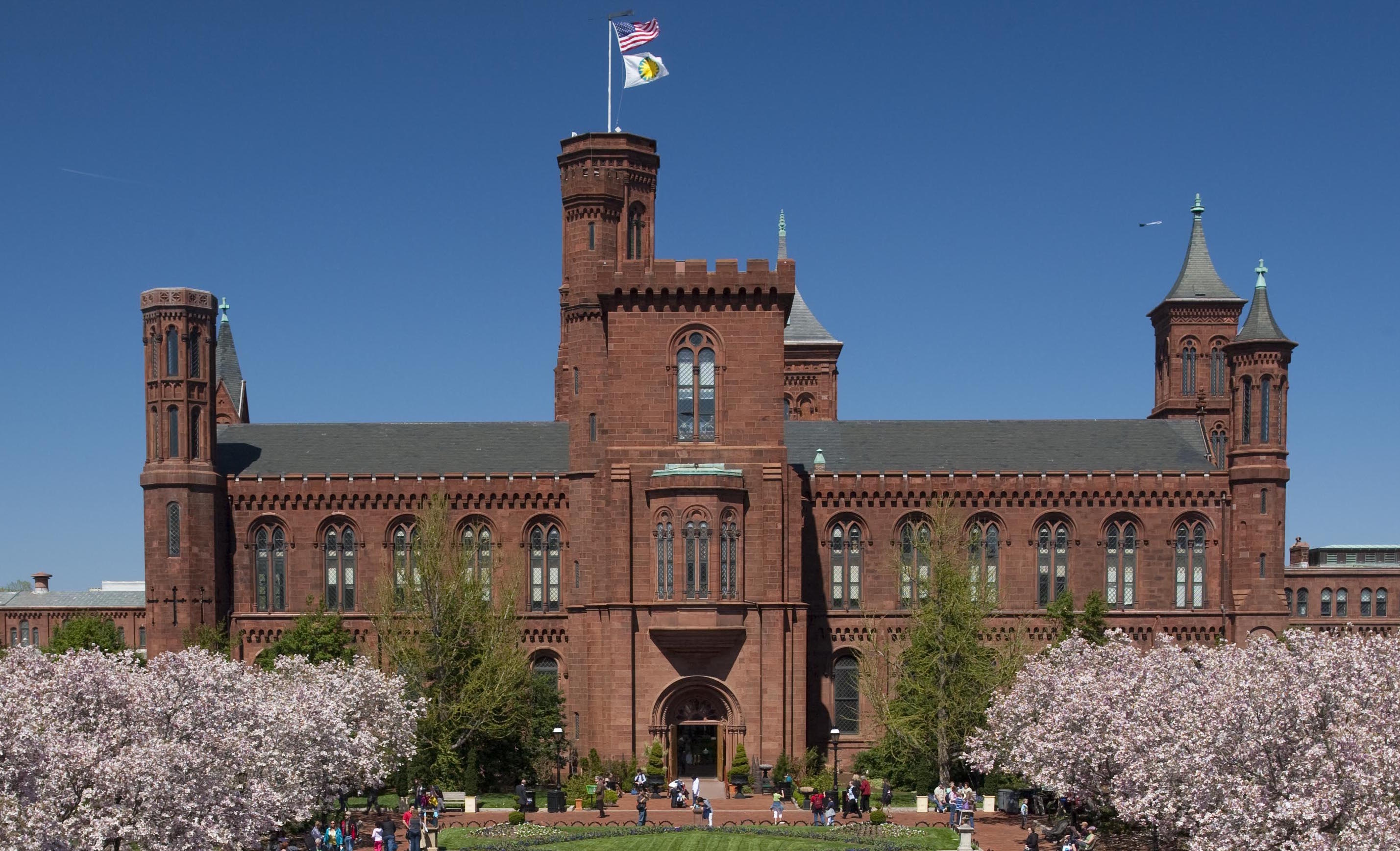 South side of the Smithsonian Castle facing the Enid A. Haupt Garden during summer 2010