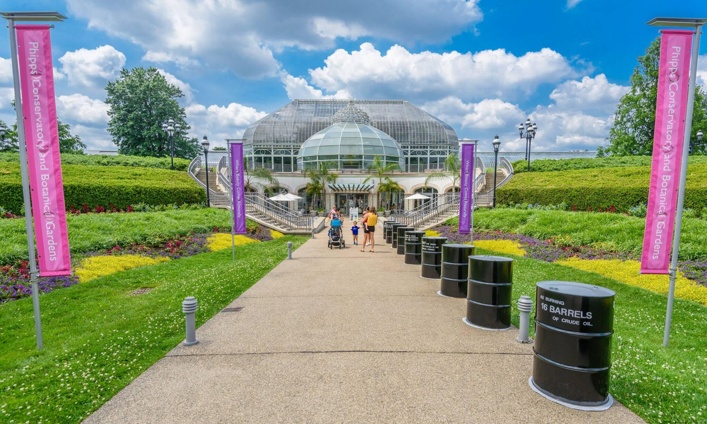 Concept image for the new entrance to the Phipps Conservatory and Botanical Gardens