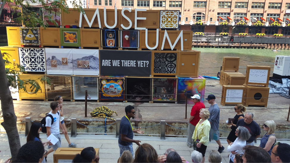 The city as a museum: The Floating Museum on Chicago River.