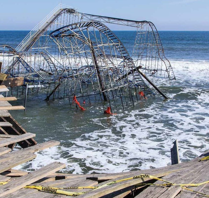 Image of the roller coaster in the Atlantic Ocean