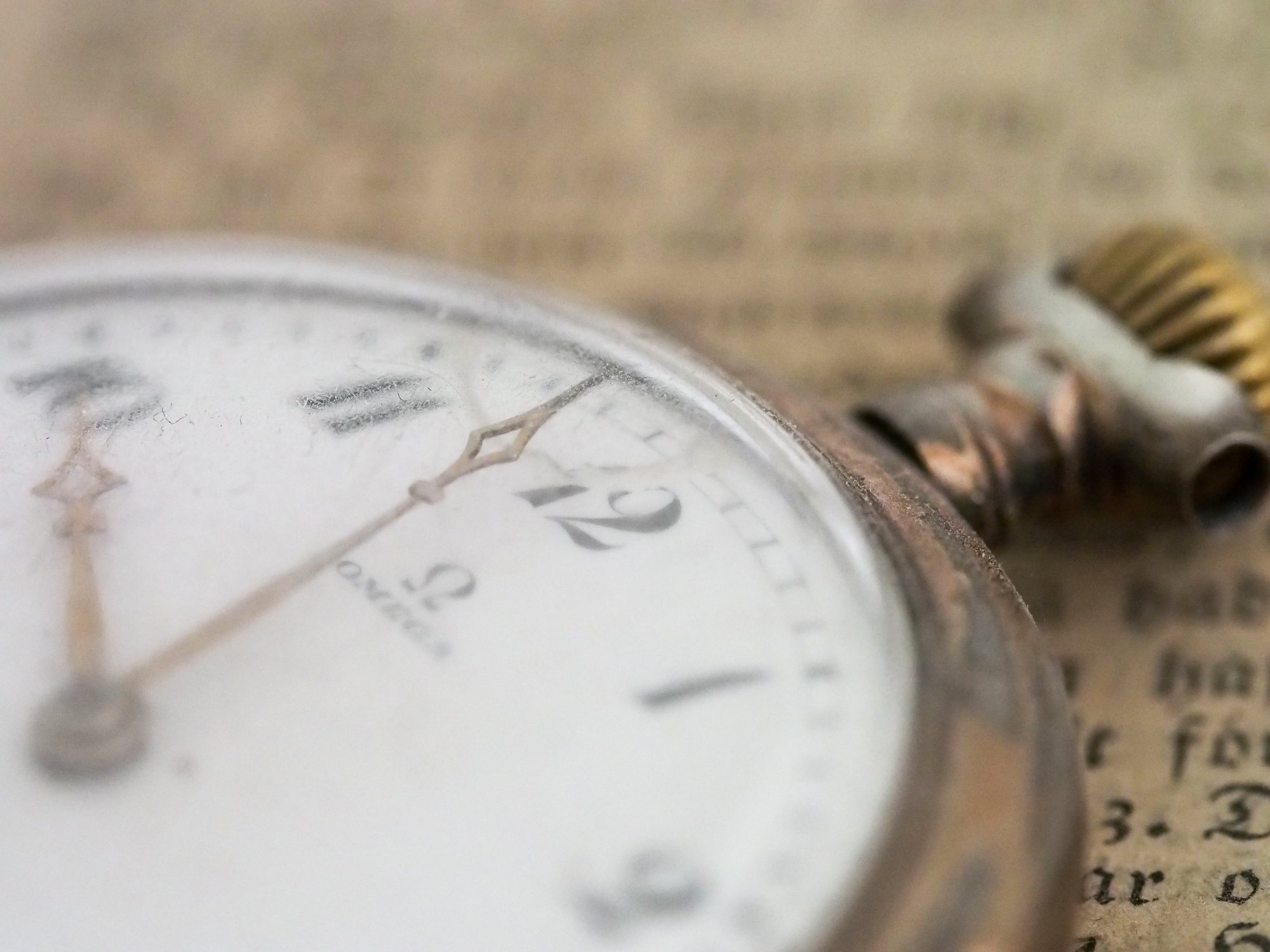 Close up image of a pocket watch