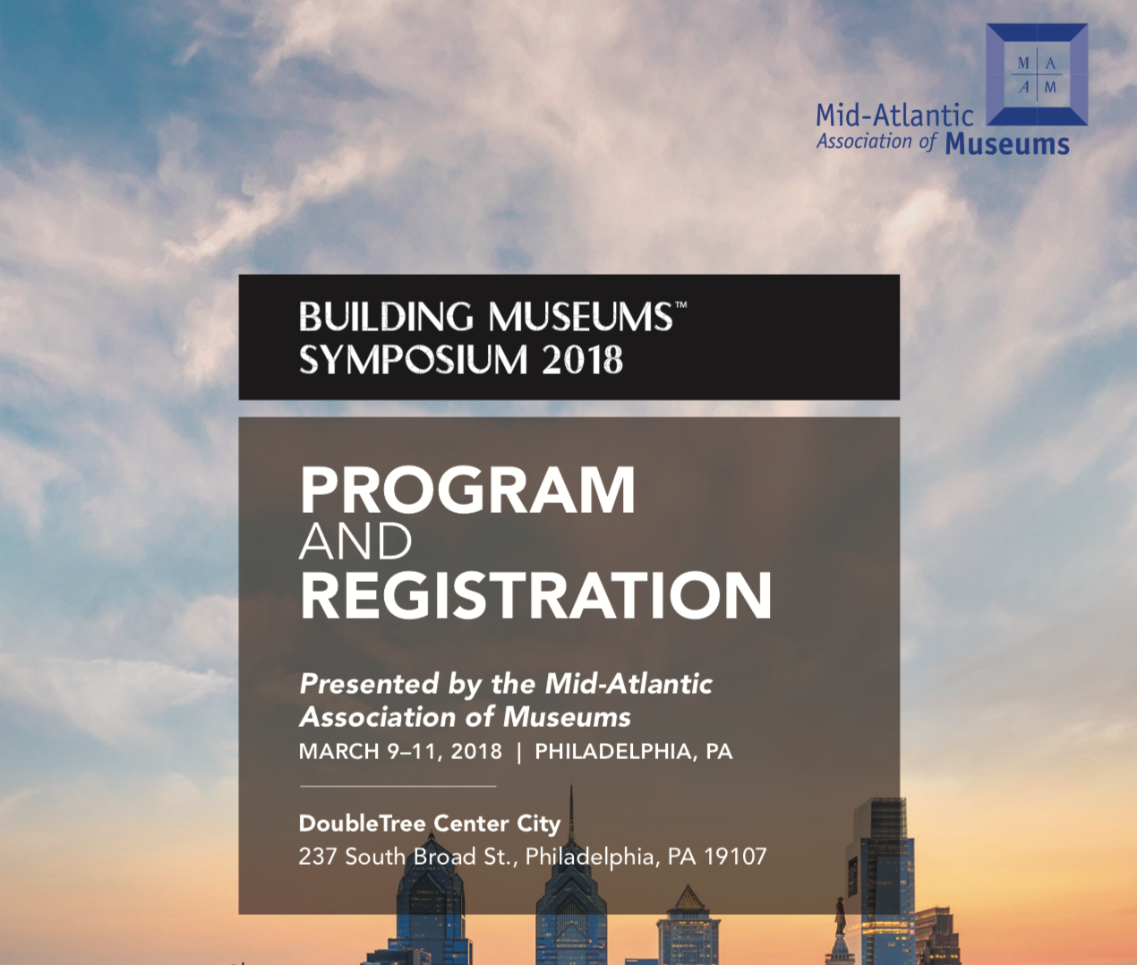 Building Museums 2018, Philadelphia, PA