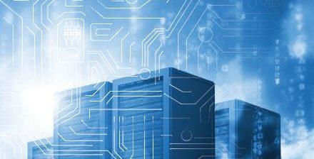Image of a server farm.