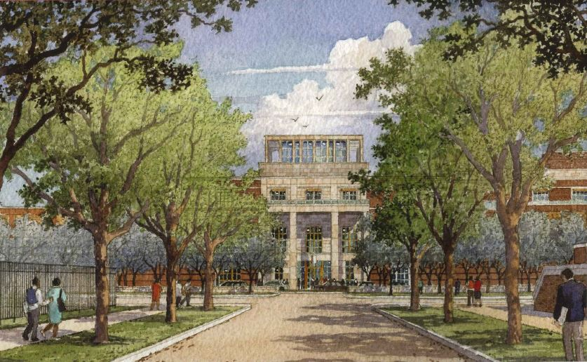 the George W. Bush Presidential Center is scheduled to open at Southern Methodist University next spring.