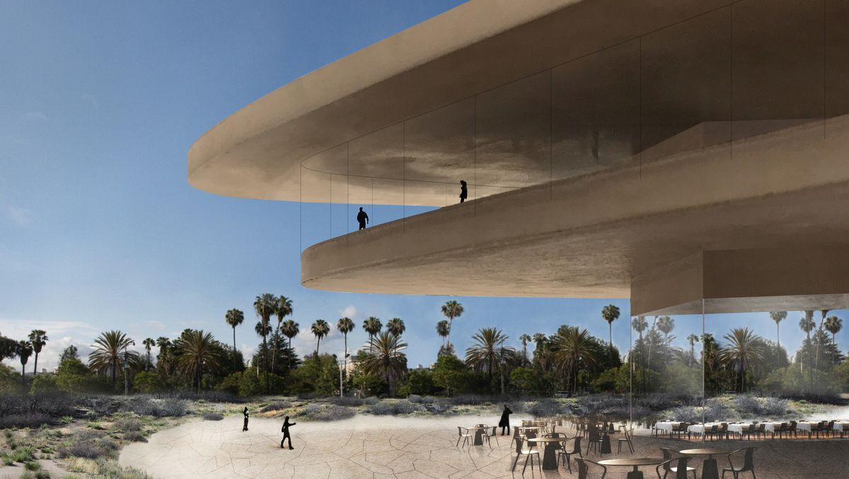 Rendering of a new LACMA building.