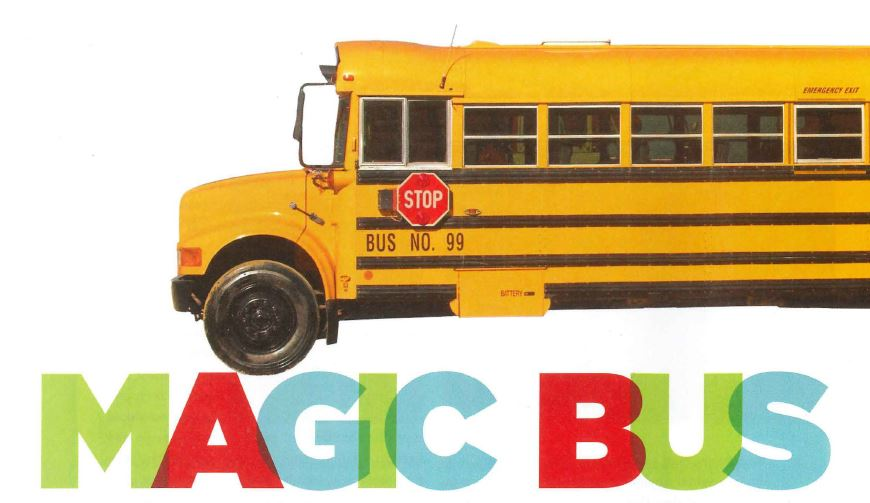Image of a school bus on a white background.