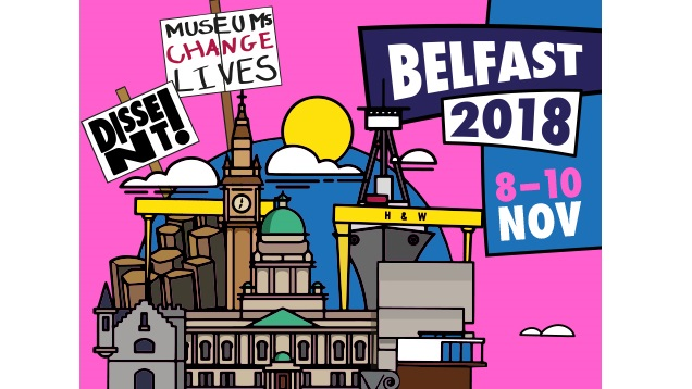 Promotional graphic for Museums Association 2018 conference and exhibition