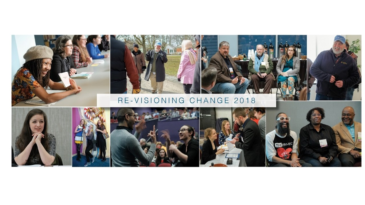 Four images related to revisioning change