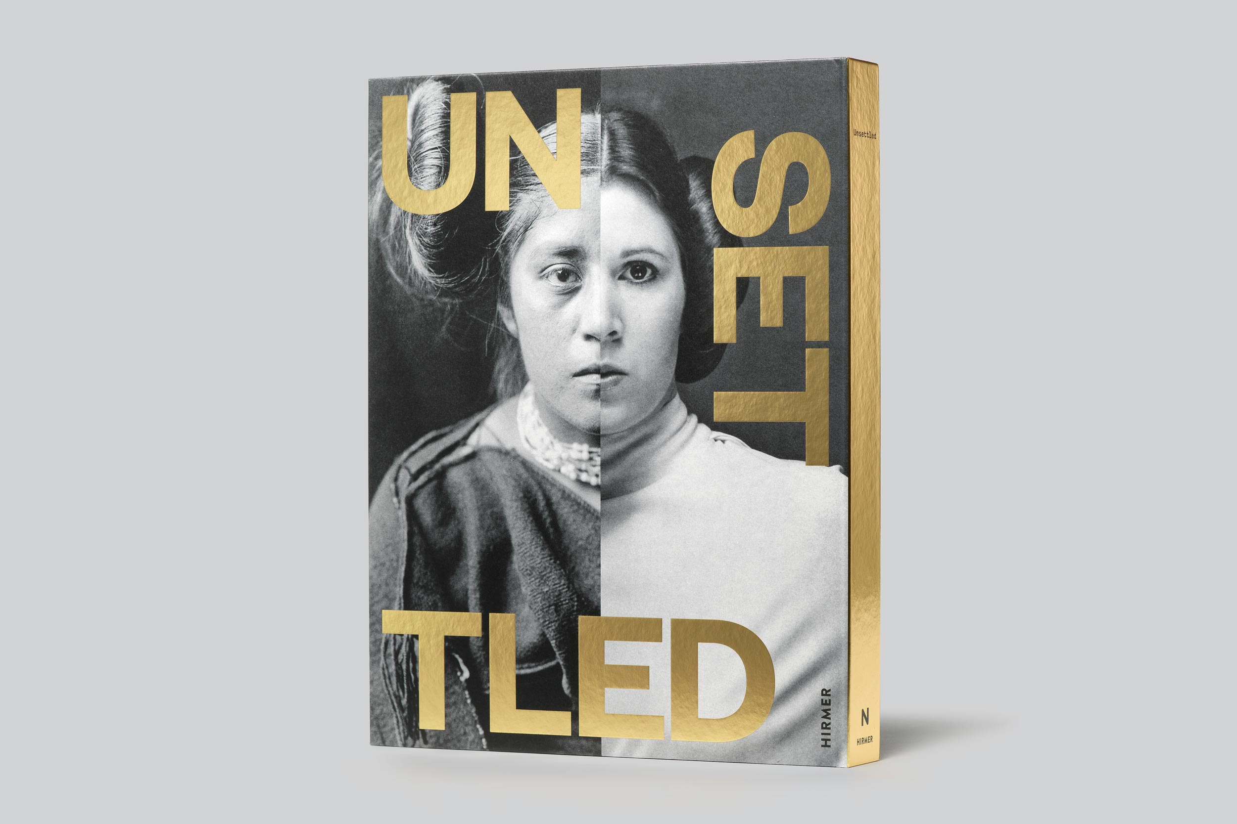 "Exhibition catalog cover for ""Unsettled"" exhibition at Nevada Museum of Art."
