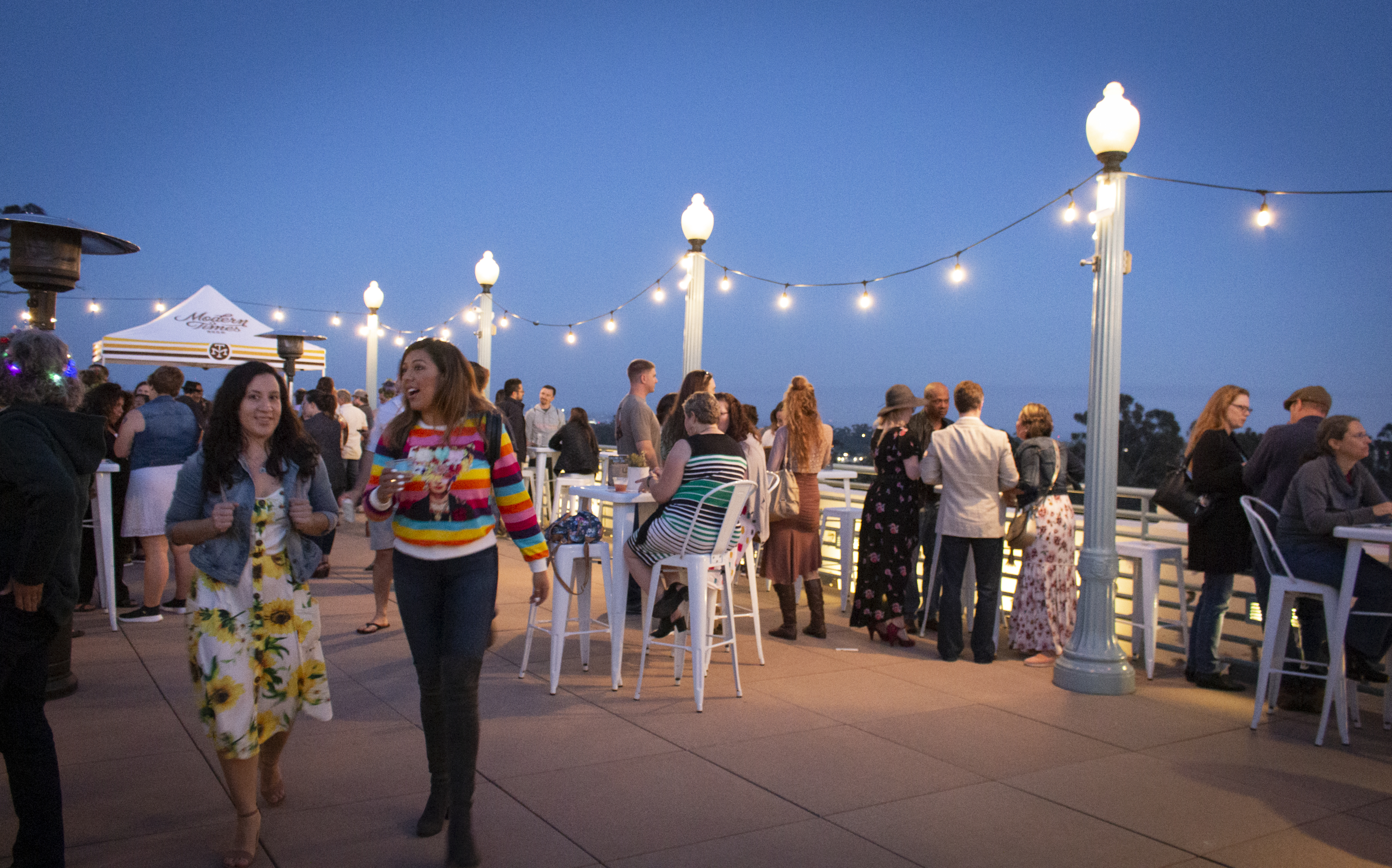 A Natural History-themed trivia night on the roof of the San Diego Natural History Museum attracts a loyal, and different crowd from typical daytime guests.  Photo by SDNHM.