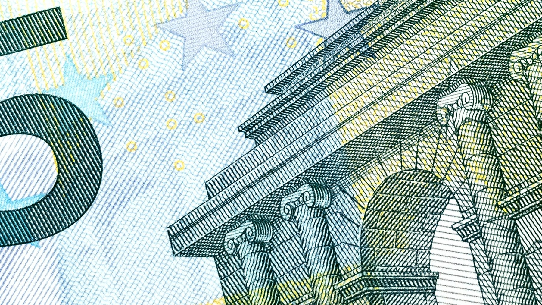 A close-up of paper currency.