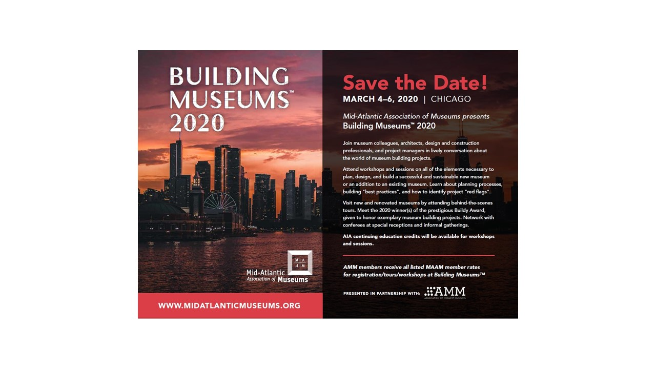Building Museums 2020 Save the Date