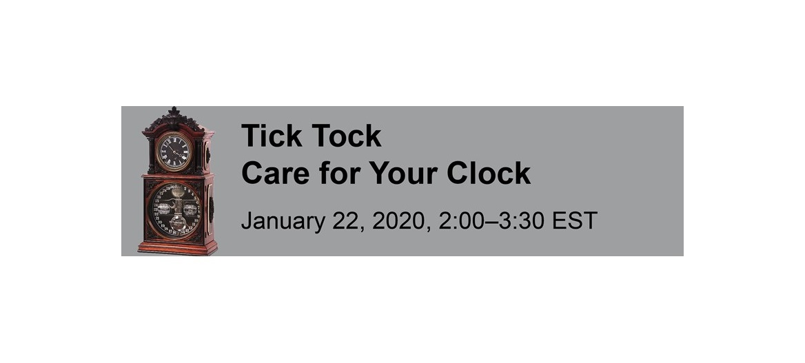 Tick Tock Care For Your Clock Event Title with Clock