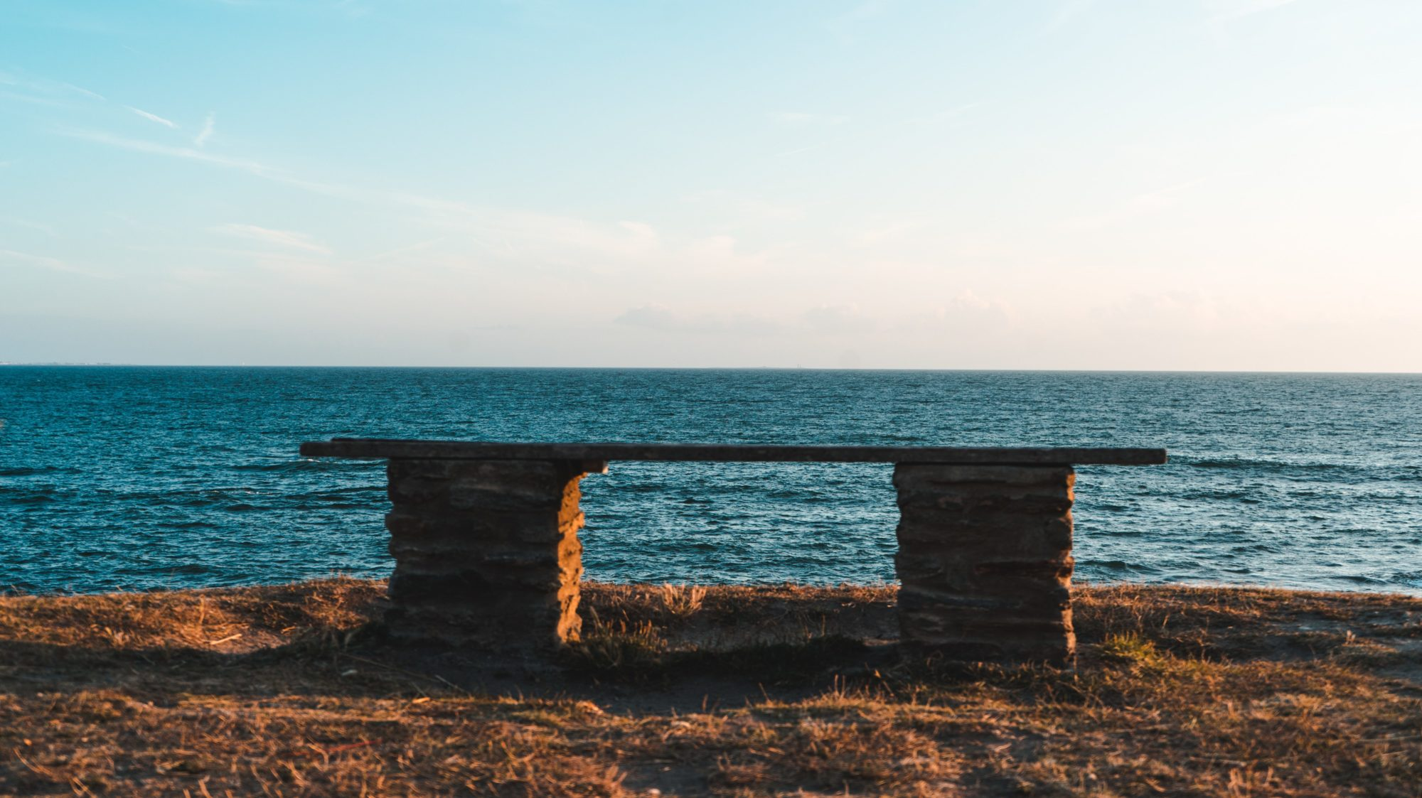 A bench looking out over the sea