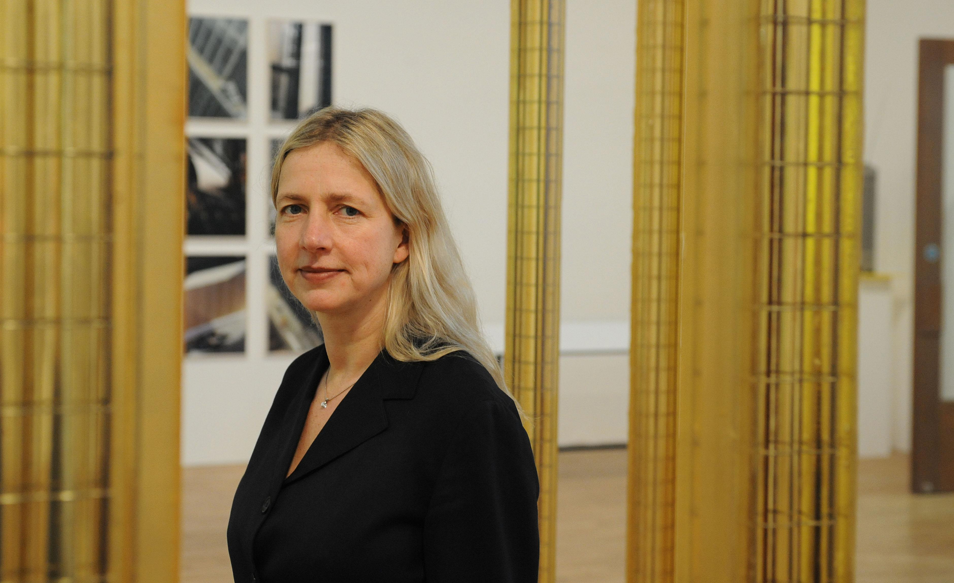 Iwona Blazwick OBE, director of the newly re-opened Whitechapel Art Gallery in London, during a media preview to promote the gallery's extension which has cost 13.5 million. (Photo by Ian West - PA Images/PA Images via Getty Images)