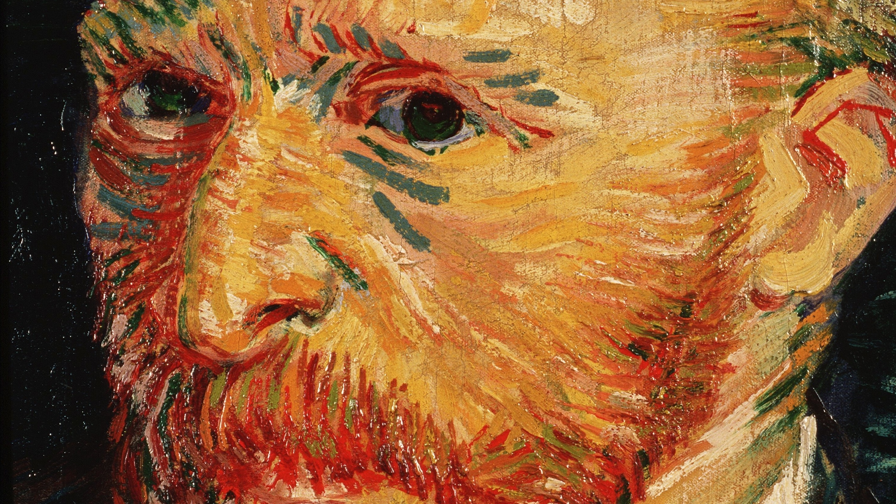 An 1887 self-portrait by artist Vincent van Gogh from the Musée d'Orsay in Paris. Another van Gogh painting.
