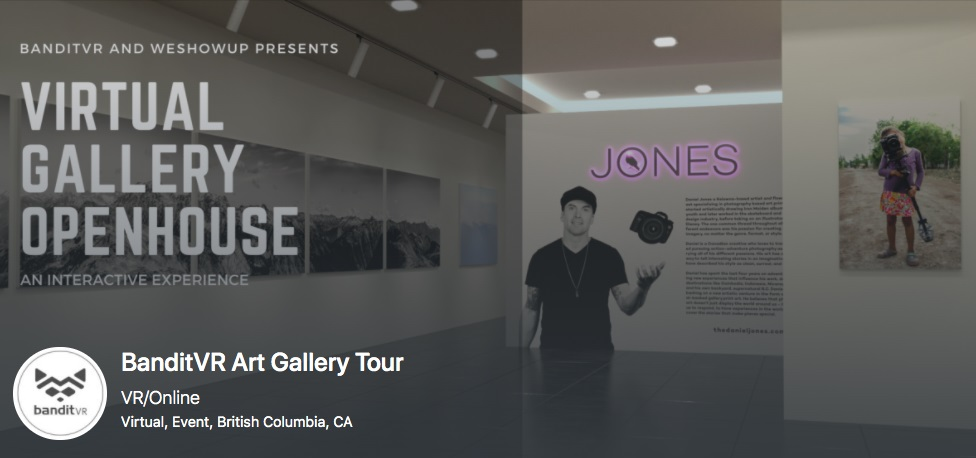black and white image of a gallery exhibit