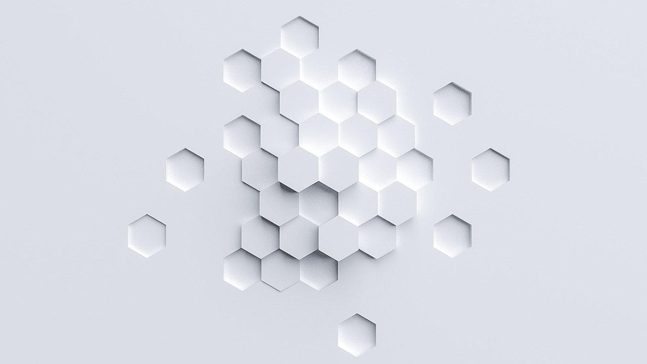 A piece of paper with raised hexagon shapes.