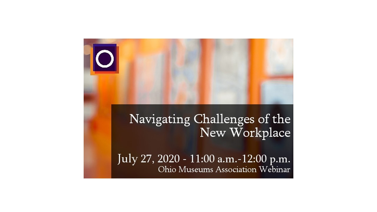 photo with text: navigating challenges of the new workplace