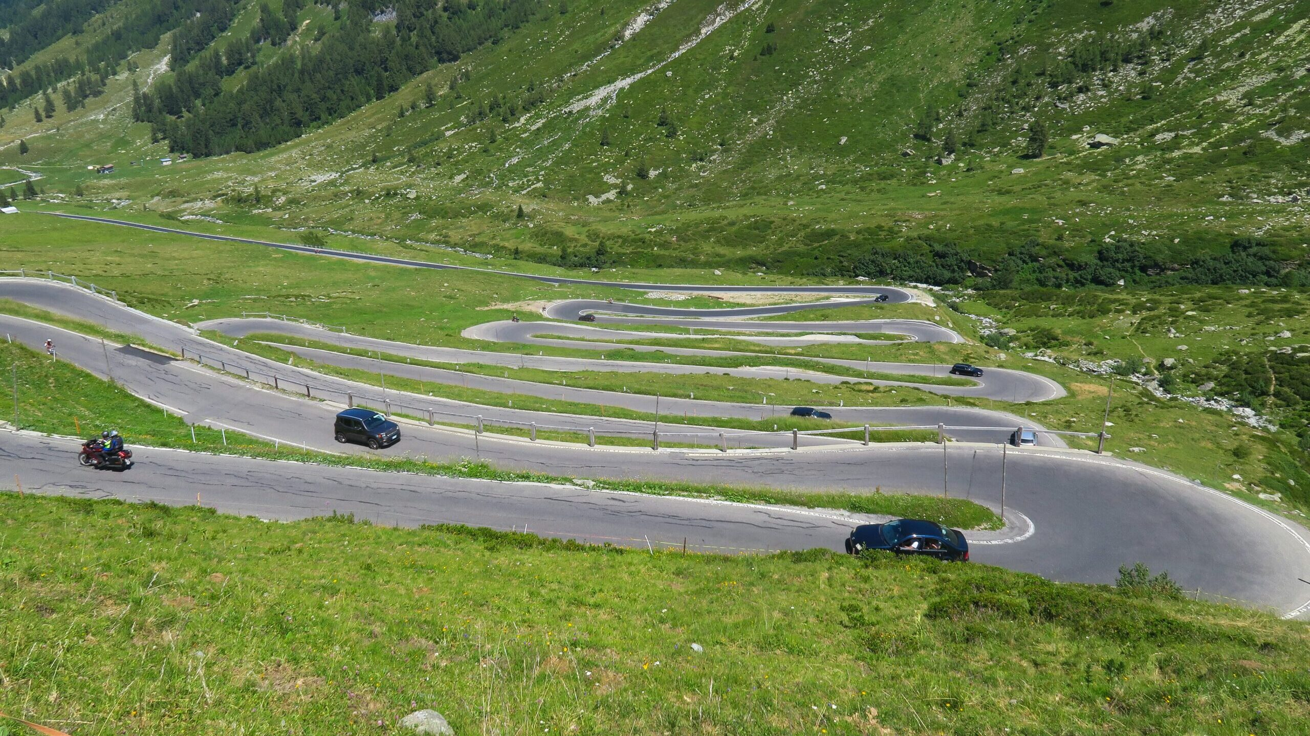 A curving road in a mountainous landscape