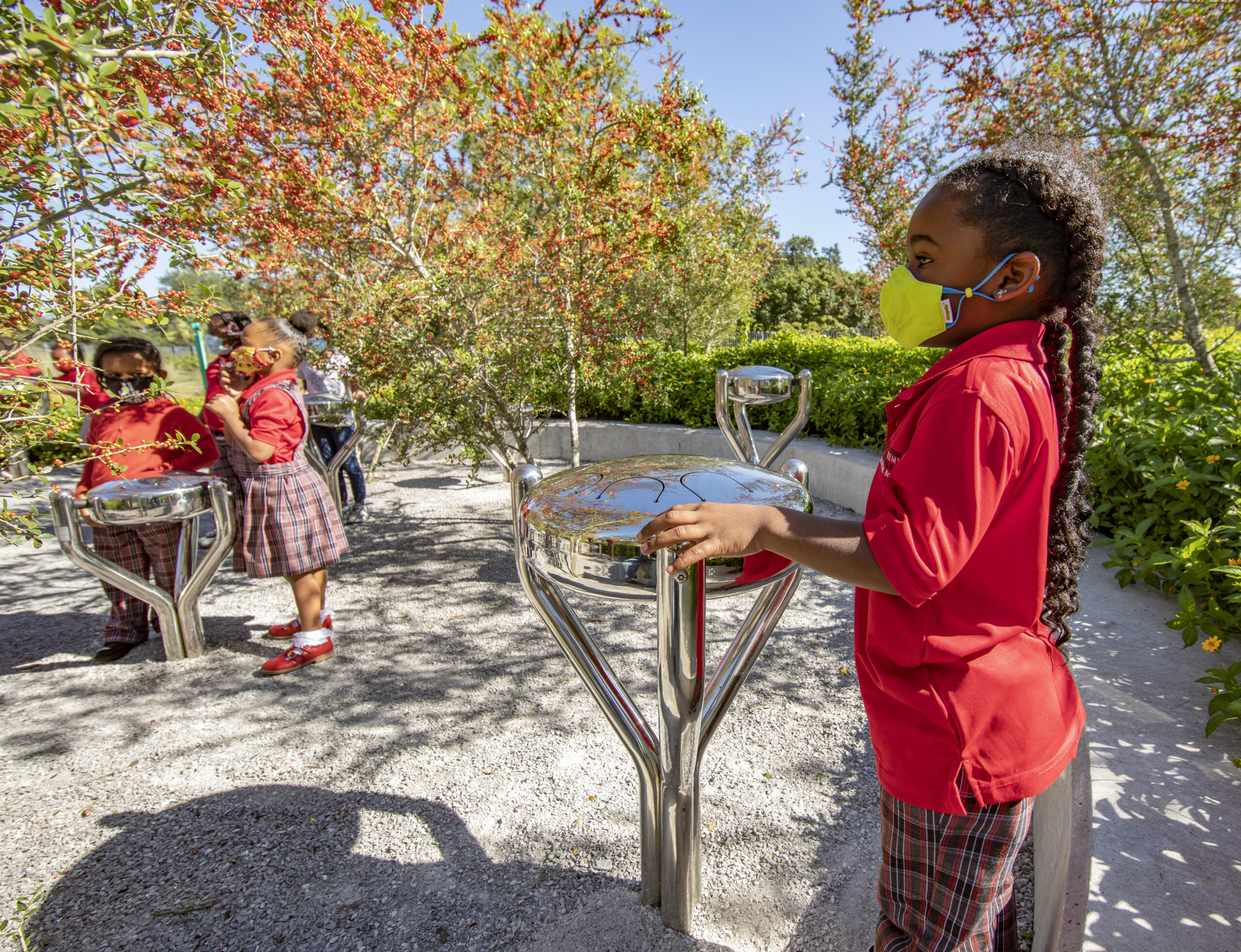Students from Langston Hughes Academy, a FirstLine charter school, are using the Louisiana Children's Museum as their indoor and outdoor classroom.