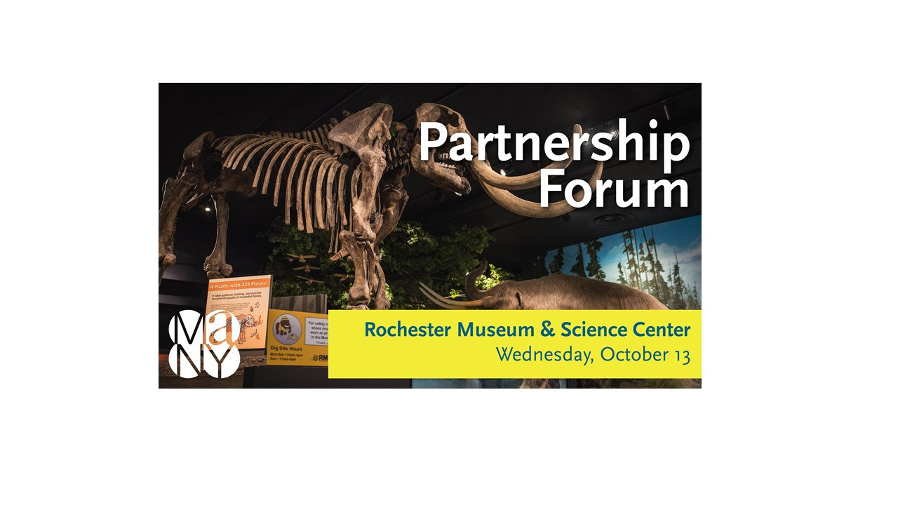 mastedon skeleton on view at Rochester Museum & Science Center